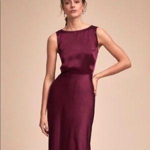 BHLDN ghost London Alexia dress in black cherry XS